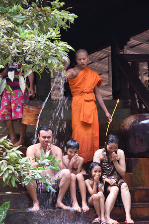 Buddhist Water Blessing Ceremony for Family 1