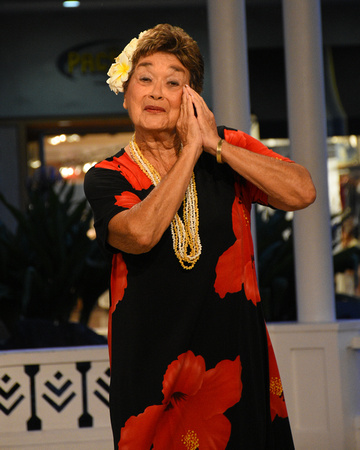 Elderly Woman Dancing Hula 2