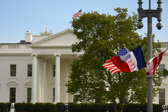 French American DC Flags and White House 1