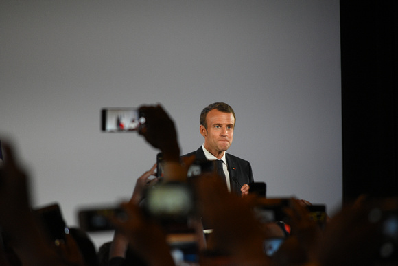 French President Emmanuel Macron Making a Speech 01