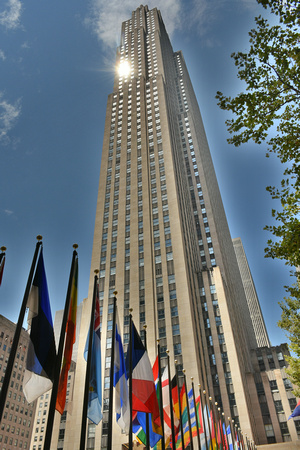 Rockefeller Center and Flags 3