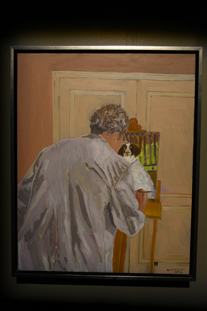 A Man Painting a Dog by Gail Norfleet