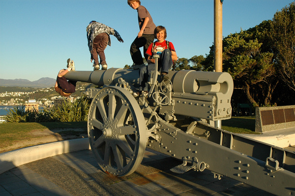 Boys Playing on Cannon 1