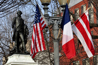 French Flags around White House 2014