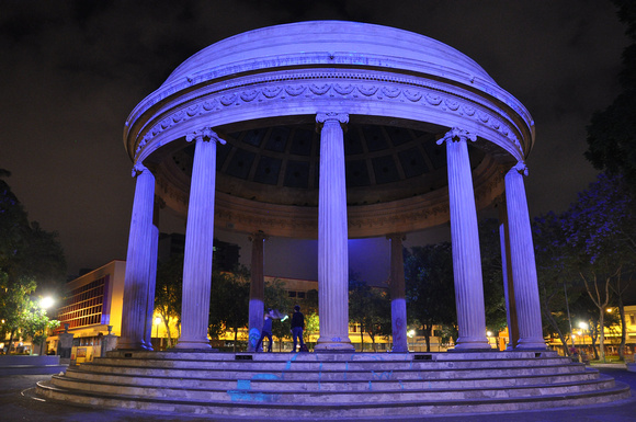 Domed Temple of Music at Morazan Park by Night