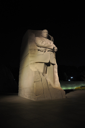 Statue of Martin Luther King Jr at Night 3