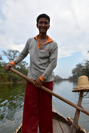 Cambodian Boatman