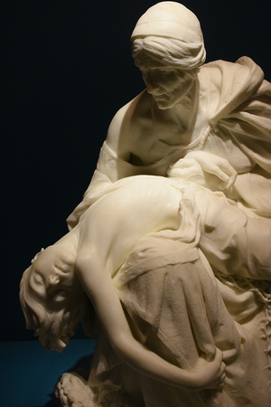 After the Storm - Statue of Woman Holding Dead Grandson - by Sarah Bernhardt 2