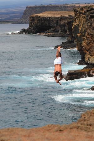 Man Jumping Off Cliff 11
