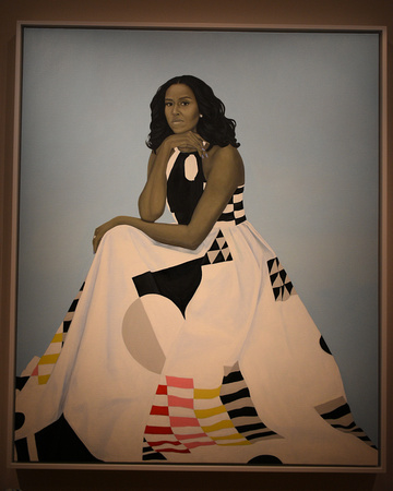 Official Portrait of First Lady Michelle Obama by Amy Sherald 2