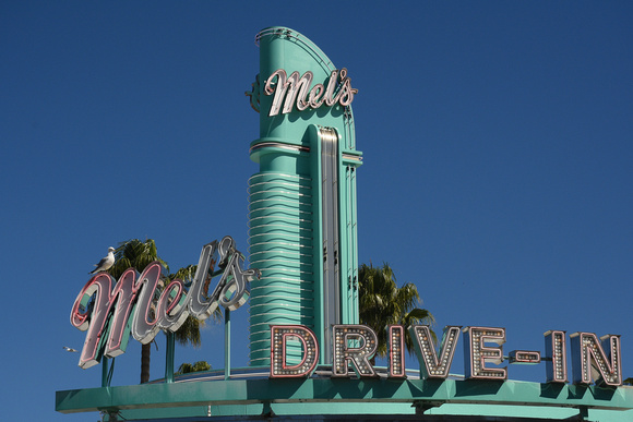 Mel-s Drive-In Blue Top