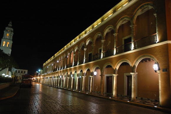 Campeche Zocalo by Night 1