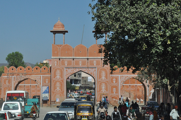 Busy Jaipur City Gate