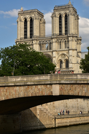 Notre-Dame Cathedral Towers and Bridge