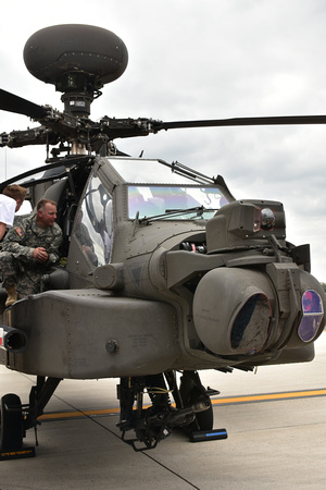 AH-64D Apache Helicopter Accepting Visitors
