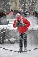 Dupont Circle Snowball Fight 2015