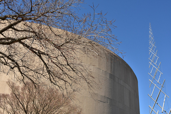 Hirshhorn Museum and Leafless Branches 5