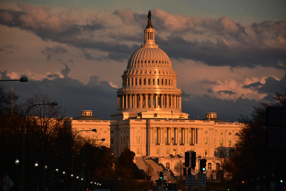 Capitol at Dusk - Streetlights