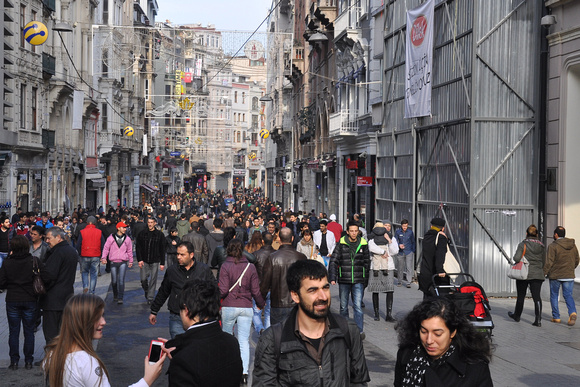Crowded Istiklal Avenue 1