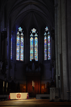 Altar and Stained Glass Windows