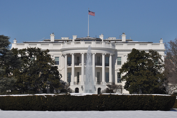 White House in the Snow 4