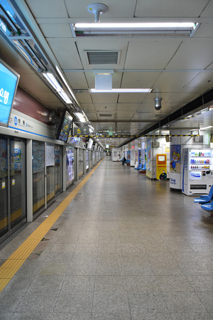 Big Almost Empty Seoul Metro Station 1