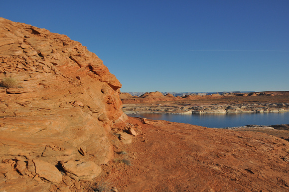 Ball of Red Rock and Lake Powell